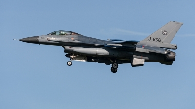 Photo ID 233692 by Jan Eenling. Netherlands Air Force General Dynamics F 16AM Fighting Falcon, J 866