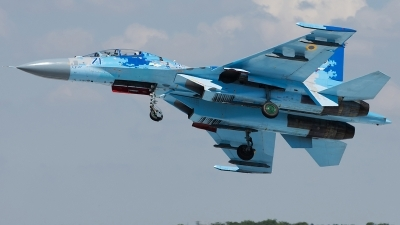 Photo ID 233628 by Aldo Bidini. Ukraine Air Force Sukhoi Su 27UB1M, B 1831M1