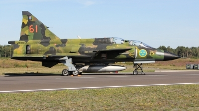Photo ID 233724 by Milos Ruza. Private Swedish Air Force Historic Flight Saab Sk37E Viggen, SE DXO