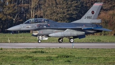 Photo ID 233770 by Rainer Mueller. Netherlands Air Force General Dynamics F 16B Fighting Falcon, J 882