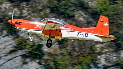 Photo ID 233911 by Martin Thoeni - Powerplanes. Switzerland Air Force Pilatus NCPC 7 Turbo Trainer, A 913