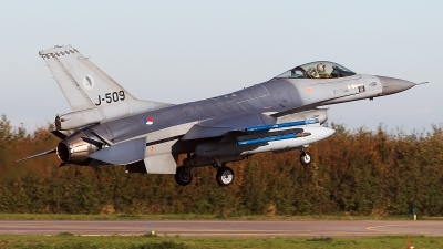 Photo ID 234075 by Carl Brent. Netherlands Air Force General Dynamics F 16AM Fighting Falcon, J 509