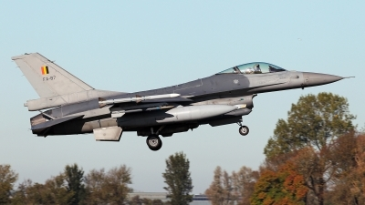 Photo ID 234109 by Carl Brent. Belgium Air Force General Dynamics F 16AM Fighting Falcon, FA 87