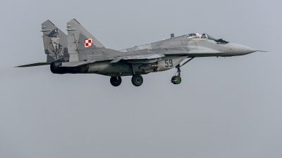 Photo ID 234247 by Jan Eenling. Poland Air Force Mikoyan Gurevich MiG 29A 9 12A, 59
