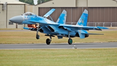 Photo ID 234236 by flyer1. Ukraine Air Force Sukhoi Su 27P1M,