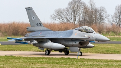 Photo ID 234280 by Jan Eenling. Netherlands Air Force General Dynamics F 16AM Fighting Falcon, J 006