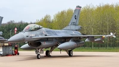 Photo ID 234374 by Jan Eenling. Netherlands Air Force General Dynamics F 16AM Fighting Falcon, J 202