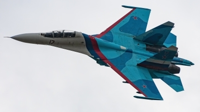 Photo ID 234594 by David Novák. Russia Air Force Sukhoi Su 27UB, RF 92202