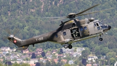 Photo ID 234636 by Ludwig Isch. Switzerland Air Force Aerospatiale AS 332M1 Super Puma, T 312