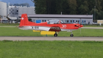 Photo ID 234987 by Milos Ruza. Switzerland Air Force Pilatus NCPC 7 Turbo Trainer, A 916