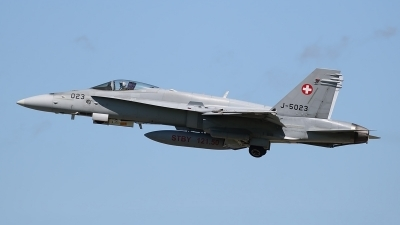 Photo ID 234959 by Ludwig Isch. Switzerland Air Force McDonnell Douglas F A 18C Hornet, J 5023