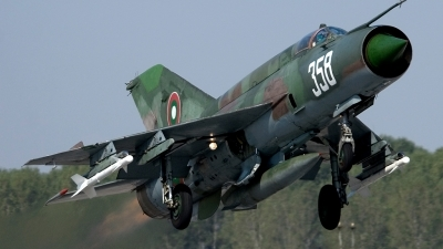 Photo ID 26599 by Anton Balakchiev. Bulgaria Air Force Mikoyan Gurevich MiG 21bis, 358
