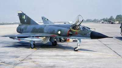 Photo ID 235190 by Gerrit Kok Collection. Pakistan Air Force Dassault Mirage IIIO ROSE I, 90 513