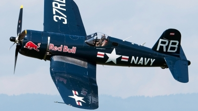 Photo ID 235455 by Aldo Bidini. Private Red Bull Vought F4U 4 Corsair, OE EAS