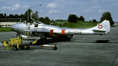 Photo ID 235580 by Joop de Groot. Switzerland Air Force De Havilland DH 115 Vampire T 55, U 1226
