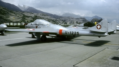 Photo ID 235575 by Joop de Groot. Switzerland Air Force De Havilland DH 115 Vampire T 55, U 1225