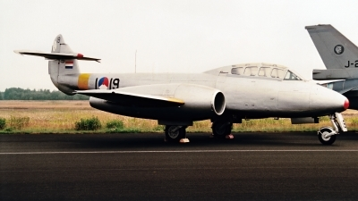 Photo ID 236302 by Jan Eenling. Netherlands Air Force Gloster Meteor T 7, I 19