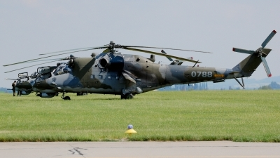 Photo ID 236319 by Günther Feniuk. Czech Republic Air Force Mil Mi 24V, 0788