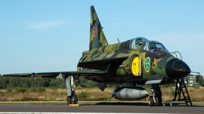 Photo ID 236415 by Thomas Ziegler - Aviation-Media. Private Swedish Air Force Historic Flight Saab Sk37E Viggen, SE DXO