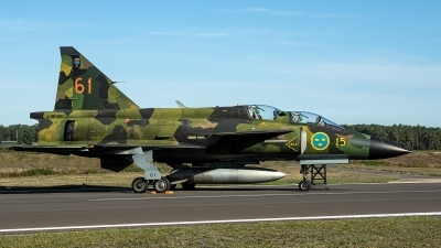 Photo ID 236416 by Thomas Ziegler - Aviation-Media. Private Swedish Air Force Historic Flight Saab Sk37E Viggen, SE DXO