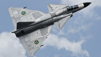 Photo ID 236569 by Rainer Mueller. Private Swedish Air Force Historic Flight Saab AJS37 Viggen, SE DXN
