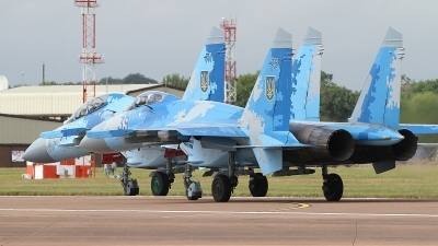 Photo ID 236619 by Paul Newbold. Ukraine Air Force Sukhoi Su 27S, 39 BLUE