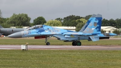 Photo ID 236604 by Paul Newbold. Ukraine Air Force Sukhoi Su 27UB1M, B 1831M1
