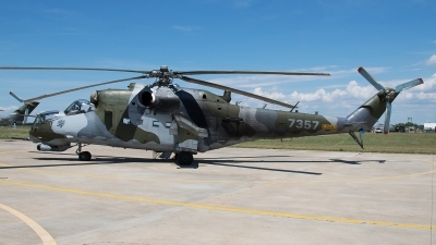 Photo ID 236838 by Aldo Bidini. Czech Republic Air Force Mil Mi 24V, 7357