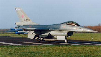 Photo ID 236939 by Jan Eenling. Netherlands Air Force General Dynamics F 16A Fighting Falcon, J 235