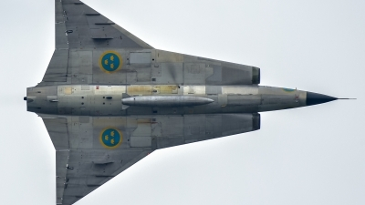 Photo ID 237046 by Sascha Gaida. Private Swedish Air Force Historic Flight Saab Sk35C Draken, SE DXP