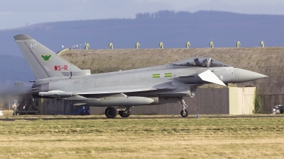Photo ID 238564 by Tom Gibbons. UK Air Force Eurofighter Typhoon FGR4, ZJ917