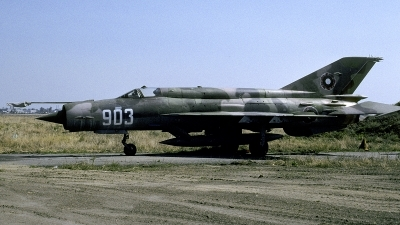 Photo ID 238746 by Joop de Groot. Bulgaria Air Force Mikoyan Gurevich MiG 21bis SAU, 903
