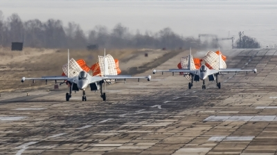 Photo ID 238842 by Andrei Shmatko. Russia Air Force Sukhoi Su 35S, RF 95851