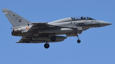 Photo ID 239125 by Hans-Werner Klein. Spain Air Force Eurofighter CE 16 Typhoon EF 2000T, CE 16 12