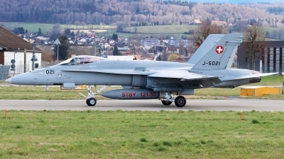 Photo ID 239488 by Mark Broekhans. Switzerland Air Force McDonnell Douglas F A 18C Hornet, J 5021
