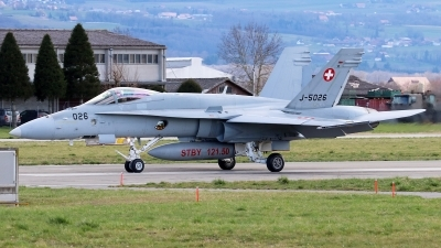 Photo ID 239489 by Mark Broekhans. Switzerland Air Force McDonnell Douglas F A 18C Hornet, J 5026