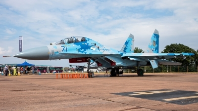 Photo ID 239708 by Lukas Könnig. Ukraine Air Force Sukhoi Su 27UB1M, B 1831M1