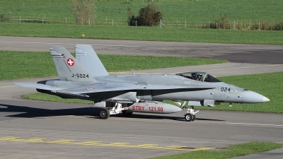 Photo ID 240376 by Ludwig Isch. Switzerland Air Force McDonnell Douglas F A 18C Hornet, J 5024