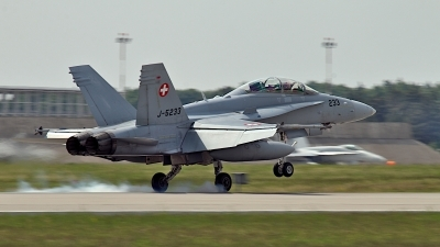 Photo ID 240573 by Wojtek Werpachowski. Switzerland Air Force McDonnell Douglas F A 18D Hornet, J 5233