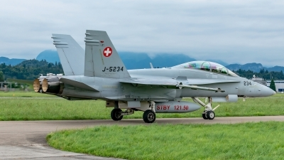Photo ID 240584 by Martin Thoeni - Powerplanes. Switzerland Air Force McDonnell Douglas F A 18D Hornet, J 5234