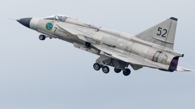 Photo ID 243474 by Age Meijer. Private Swedish Air Force Historic Flight Saab AJS37 Viggen, SE DXN