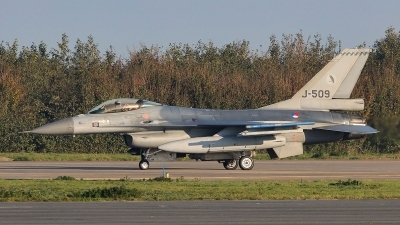 Photo ID 241035 by Frank Kloppenburg. Netherlands Air Force General Dynamics F 16AM Fighting Falcon, J 509