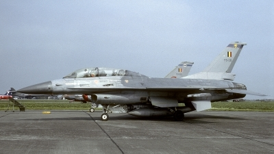 Photo ID 241065 by Joop de Groot. Belgium Air Force General Dynamics F 16B Fighting Falcon, FB 08