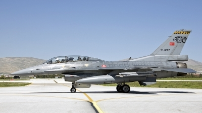 Photo ID 241620 by D. A. Geerts. Turkey Air Force General Dynamics F 16D Fighting Falcon, 91 0022