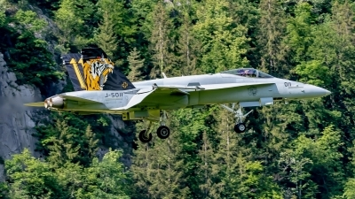 Photo ID 242223 by Martin Thoeni - Powerplanes. Switzerland Air Force McDonnell Douglas F A 18C Hornet, J 5011