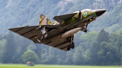 Photo ID 242560 by Agata Maria Weksej. Private Swedish Air Force Historic Flight Saab Sk37E Viggen, SE DXO