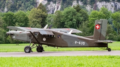 Photo ID 242520 by Agata Maria Weksej. Switzerland Air Force Pilatus PC 6 B2 H2M 1 Turbo Porter, V 635