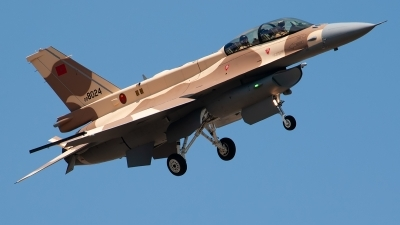 Photo ID 243238 by Brandon Thetford. Morocco Air Force General Dynamics F 16D Fighting Falcon, 08 8024
