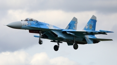 Photo ID 243630 by Walter Van Bel. Ukraine Air Force Sukhoi Su 27S, 39 BLUE