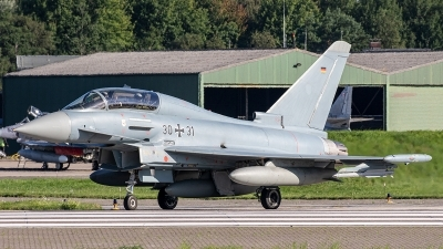 Photo ID 243907 by Jan Eenling. Germany Air Force Eurofighter EF 2000 Typhoon T, 30 31